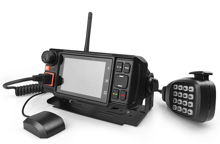 Σταθερή συσκευή Mobile network radio βάσης με μεγάλη οθόνη αφής για οχήματα ταξί